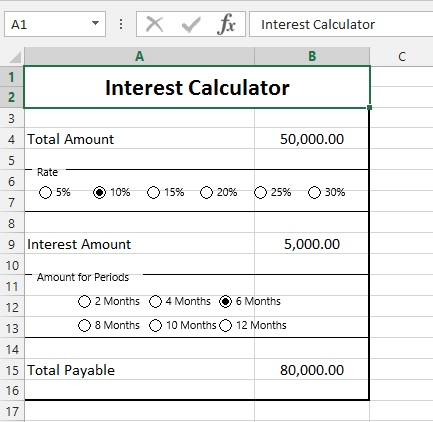 Combo Box from Excel Form Control – WizApps